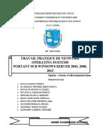 TRAVAIL PRATIQUE DE NETWORK OPERATING SYSTEM