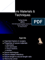 Suture Materials & Techniques