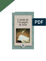 etude de l'évangile de Jean