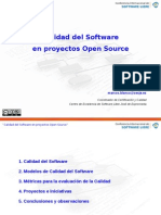 Calidad Del Software en Proyectos Open Source