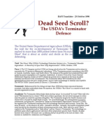 Dead Seed Scroll - The USDA's Terminator Defence