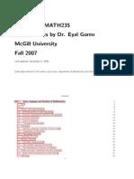 Course Notes Math 235