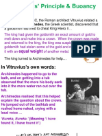 Archimedes Principle explained