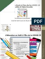 L'Education en Haïti à l'ère de la COVID-19 NM