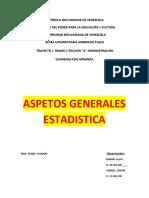 ASPECTO GENERALES ESTADISTICA