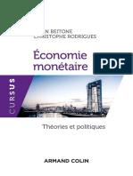 (Cursus) Alain Beitone, Christophe Rodrigues - Economie monétaire_ Théories et politiques-Armand Colin (2017).epub
