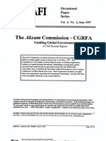 The Aksum Commission - CGRFA Guiding Global Governance