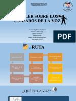 TALLER SOBRE LOS CUIDADOS DE LA VOZ p.pptx