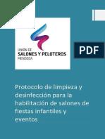Protocolo Salones y Peloteros COVID19 Con DJ de SALUD