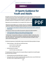 COVID-19 Sports Guidance for Youth and Adults
