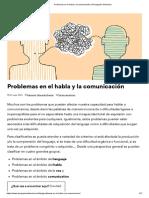 Problemas en El Habla y La Comunicación _ Divulgación Dinámica