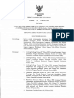 Permenkeu No. 250/MK.05/2010 tentang Tata Cara Pencairan APBN atas Beban BA-BUN pada KPPN