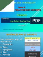 CEMENTO PARA EL CONCRETO - EC 612 I - Ing. CACHAY - CICLO 2020 - I