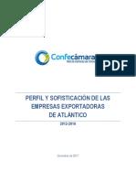 Atlántico Perfil y sofisticación de las empresas exportadoras
