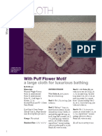 Puff Flower Pa Cloth