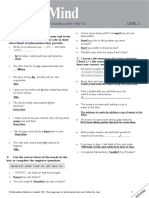 masterMind 2 Unit 1 grammar and vocabulary test A