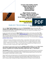 The Alcestiad Magis Website Launch Event