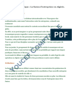 Une lecture juridique La fusion d'entreprises en Algérie