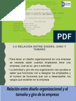2.6 RELACIÓN ENTRE DISEÑO, GIRO Y TAMAÑO