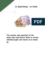Assessment for Learning - Strategies - Teacher Notes