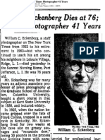 William Eckenberg Dies at 76