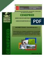 INF. GEOESPACIAL Resultados primer diagnostico de registros de informacion del riesgo