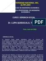 GERENCIA SOCIAL 2020-I - Semana 1