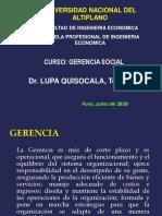 GERENCIA SOCIAL 2020-I - Semana 2