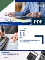 Sesión 11 - Selección e implantación de estrategias