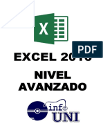 Libro Excel Avanzado 2016 - InfoUNI