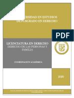 DERECHO DE LAS PERSONAS Y FAMILIA