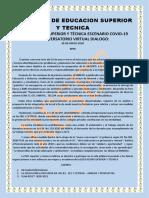 La Educación Superior y Técnica Escenario Covidii