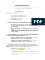 Proposiciones relativas (concordancia)