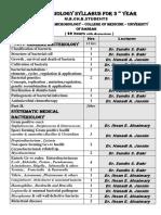 syllabus of microbiology