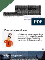 Diapositivas investigacion líderes sociales