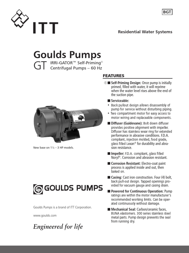 7305 Irri-Gator Goulds | Pump | Machines