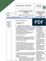 CRONOGRAMA DE ACTIVIDADES SEMANA 11  QUÍMICA_ELIZABETH PÉREZ_2DO _AÑO