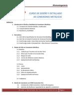 1 Contenido General Curso de Conexiones Metálicas - vía online