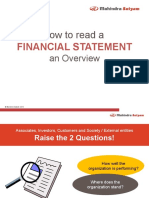 How to Read a Financial Statement - An Overview