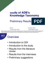 Study of ADB's Knowledge Taxonomy