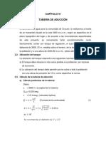CAPÍTULO VI- ADUCCION Y TANQUE