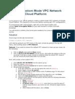 Lab04 - Custom VPC Network