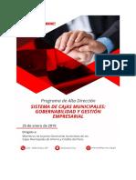 PROGRAMA DE ALTA DIRECCIÓN - SISTEMA DE CAJAS MUNICIPALES - GOBERNABILID.._