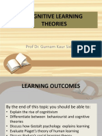 Topic 3 - Cognitive Learning Theories