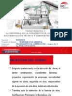 Industria de la construcción, los proyectos, documentación técnica y administrativa de la obra