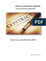 Time-bar clauses in construction contracts