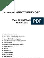 EXAMENUL OBIECTIV NEUROLOGIC