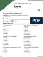 Verbo Italiano AVERE
