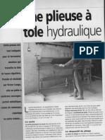 fabrication d'une Plieuse hydraulique