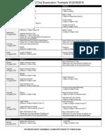 2016 Year 12 Trial Examination Timetable V3